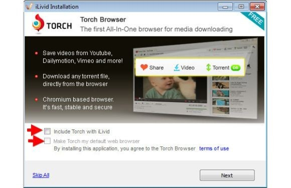 Ilivid s Torch Browser
