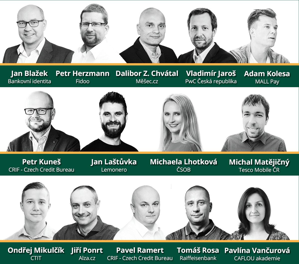 Řečníci na finannčí konferenci Měšce 2021.