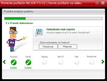 <p>Kontrola počítače nejdeto.cz provede sadu testů a vyhodnotí stav systému</p>