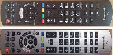 Na srovnání dálkového ovladače letošního modelu Panasonic TX-55EX613 a loňského TX-DX600 jasně vidíte rozdíly. Nejdůležitější je přesunutí EPG (Guide), které je nyní podstatně více po ruce, a také lepší umístění tlačítka Home přes které jdete do chytrých funkcí, na vstupy a výstupy, multimédia atd.