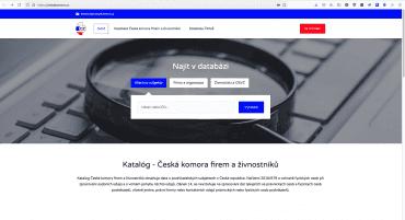 """Web a """"registr"""" firem ČKFaŽ s.r.o., IČO 10687874 a Česká komora firem a živnostníků s.r.o., IČO 08804257. Zobrazené výsledky po zadání slova """"Pavel"""" 13. 9. 2021"""