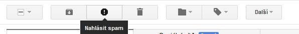 Nahlášení spamu v Gmailu