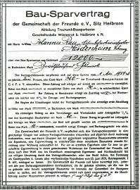 Původní smlouva na půjčení 12 000 zlatých marek. (1. 5. 1924)