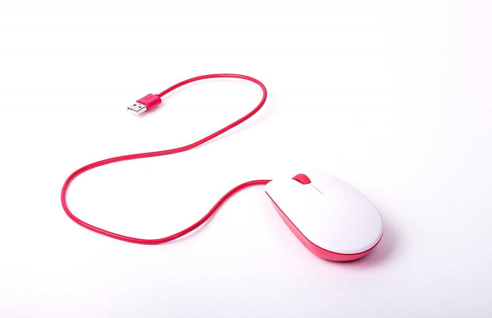 Raspberry Pi klávesnice a myš