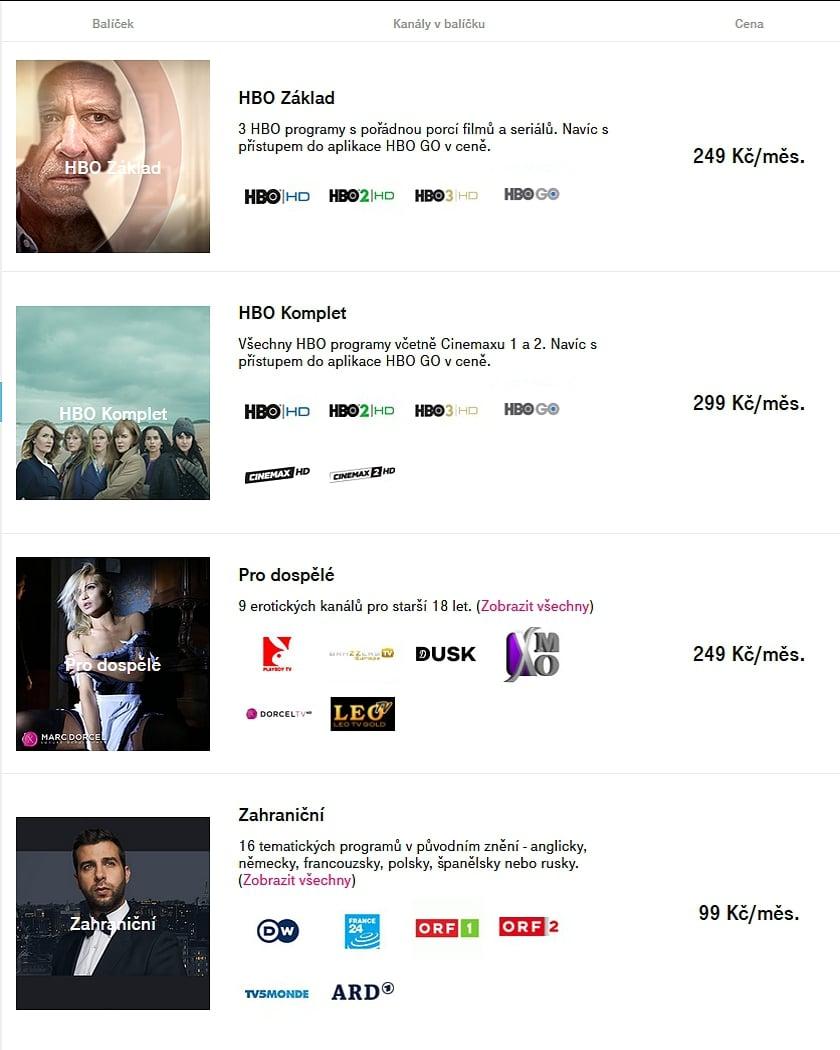 Tarify a balíčky T-Mobile TV - léto 2020
