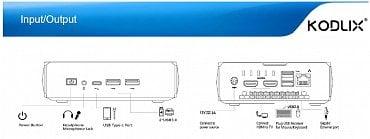Přehled portů přístroje