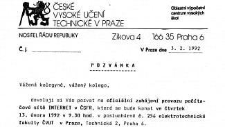 Lupa.cz: Jak se Česko před 25 lety připojilo k internetu?