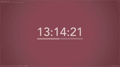 The Colour Clock mění barvy v závislosti na čase