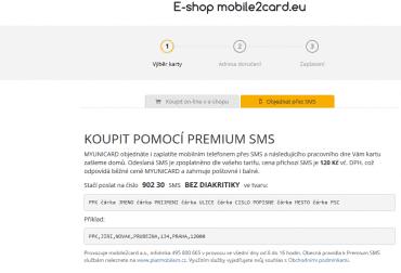 Objednávání přes PREMIUM SMS.