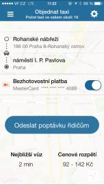 Ukázka zákaznického prostředí aplikace Liftago.