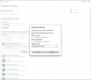Windows 10 - výběr GPU