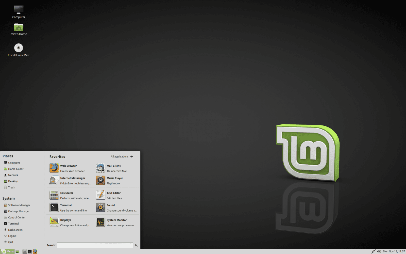 Linux Mint 18.3 MATE