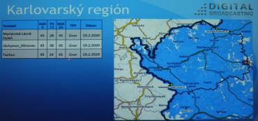Vypnutí DVB-T vysílačů Digital Broadcasting v Karlových Varech.