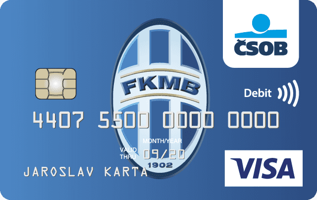 "Platební karta ČSOB ""Bolek"" FK Mladá Boleslav"