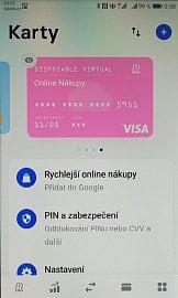 V aplikaci Revolut si lze na jedno kliknutí vytvořit jednorázovou debetní virtuální karrtu Visa pro platby na internetu, nebo kartu Mastercard pro opakované použití. (11/2020)