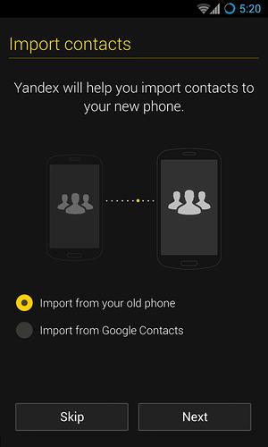 Upravený Android s názvem Yandex.Kit