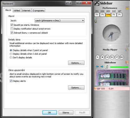 Desktop Sidebar přidá postranní panel do Windows XP