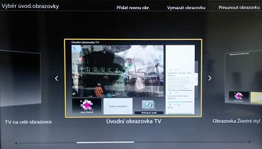 Protože televizor pracuje s platformou Viera, najdete tu i domácí obrazovku, kterou si můžete libovolně upravit nebo sáhnout po už přednastavených variantách. Standardně nabízená je tato.