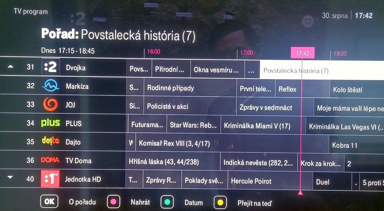 T-Mobile TV - Zpětné zhlédnutí