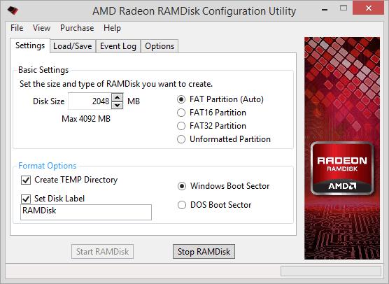 AMD Radeon RAMDisk zrychlí váš PC
