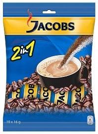 Podíl cukru u neslazených káv 2 v 1 se nejčastěji pohybuje mezi osmi a devíti procenty, Jacobs 2in1 obsahuje 33,5% cukru