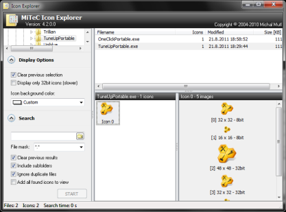 Pomocí Icon Explorer vytáhnete ikony z exe a dll souborů