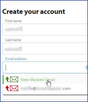Blur - nástroj pro maskování e-mailu