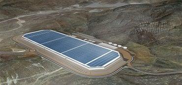 Vizualizace Gigafactory 1 v Nevadě