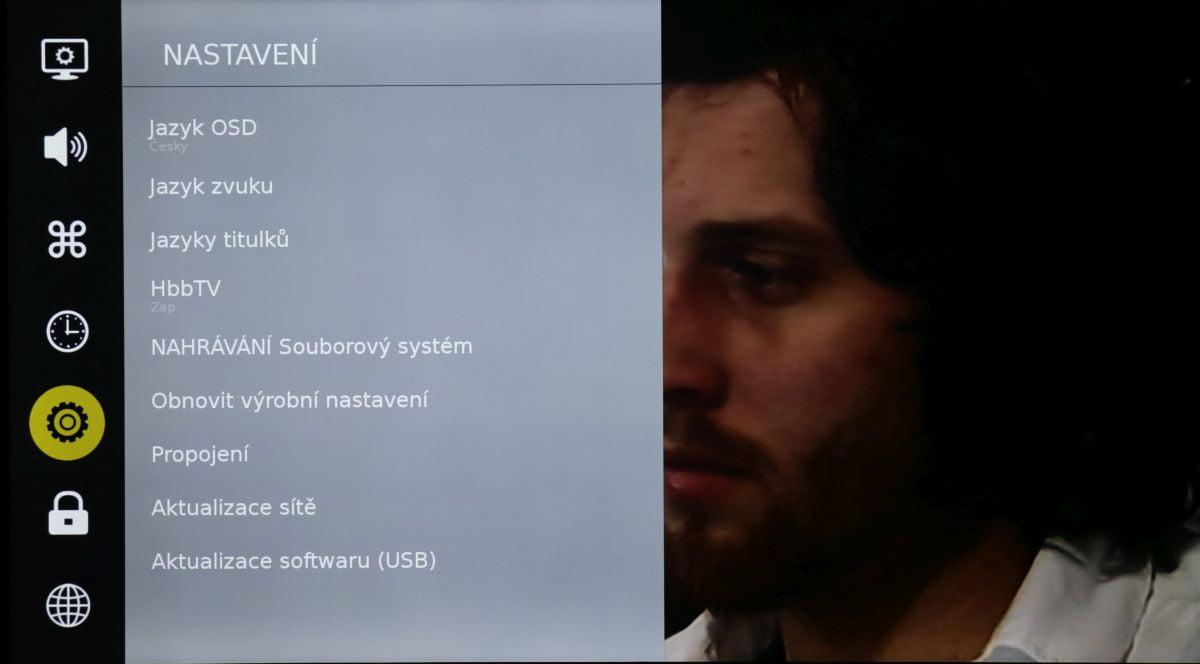 Sencor SLE 55US500TCS - menu nastavení