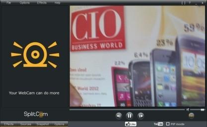SplitCam rozšíří web kameru