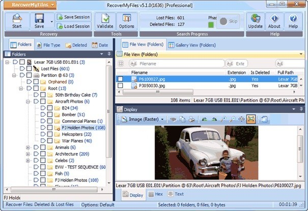 Recover My Files dokáže obnovit smazané soubory