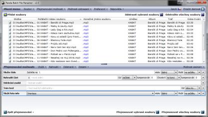Panda Batch File Renamer zvládá hromadné přejmenování souborů
