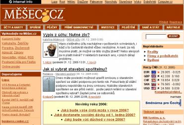 Měšec v roce 2005 po druhé změně designu.