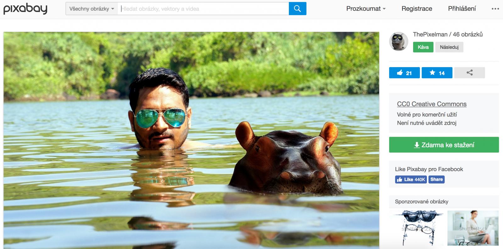 dc51b433bbc Komerční profil muže na obrázku. Jde o volně dostupný obrázek z fotobanky.