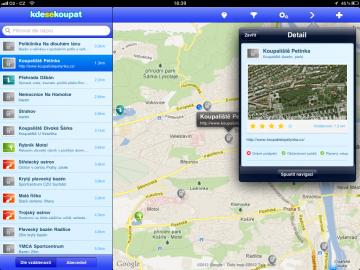 Aplikace Kde se koupat poskytne přehled nejen o koupalištích, ale i dalších vodách
