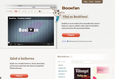BookFan: titulní stránka