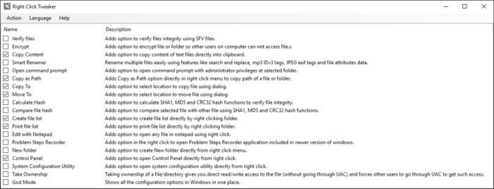 Right Click Tweaker pro operační systém Windows