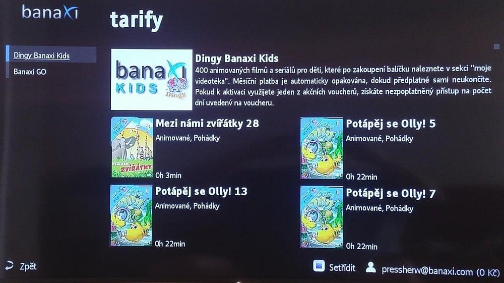 Banaxi Mini - nový balíček, duben 2016