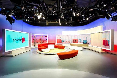 Nové studio Snídaně s Novou, které diváci poprvé uvidí v květnu.