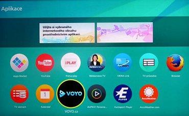 Základní obrazovka s aplikacemi. Další můžete dohrát přes volbu Apps Market, ale českých už v ní moc není. Chybí především Filmbox a nějaké rozumné české hry pro děti.