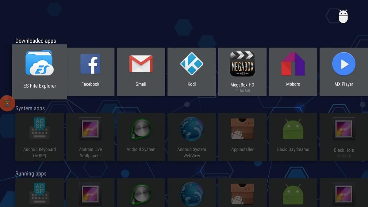 Start, hlavní stránka, menu a alternativní plocha – Android 6
