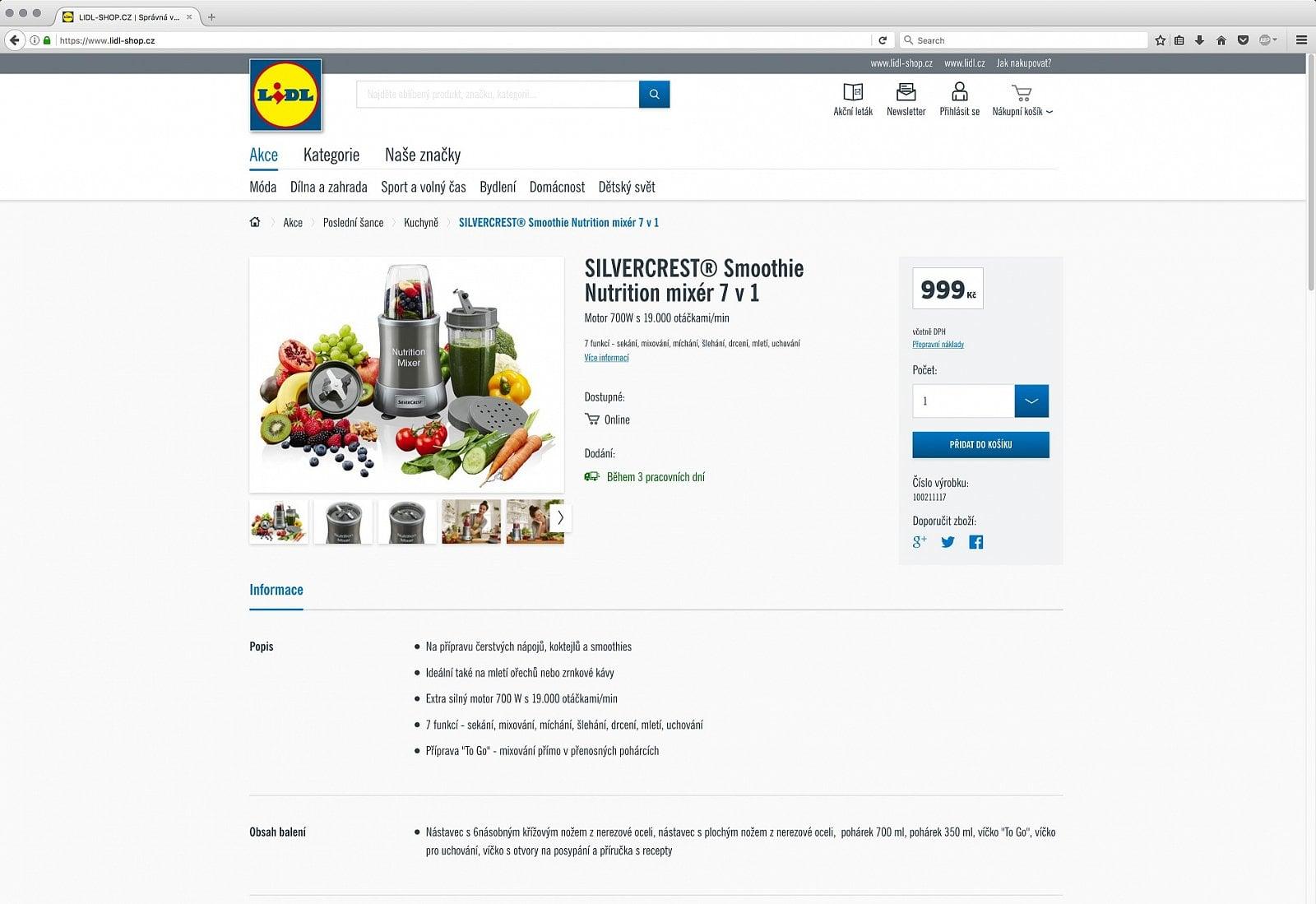 E-shop Lidlu