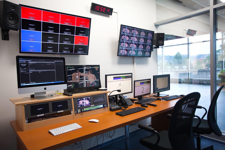 Studio nového tematického kanálu O2 Sport v O2 areně