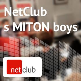 """Logo NetClub """"setkání s MITON Boys"""""""