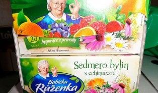 Tisíce kusů čaje Babička Růženka jsou dle inspekce nevhodné ke konzumaci