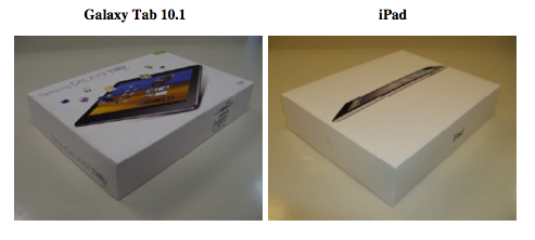 Příklad balení Galaxy Tabu a iPadu 2