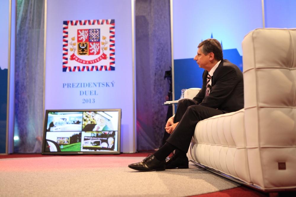 Zeman s Fischerem svůj Prezidentský duel pro Primu předtáčeli