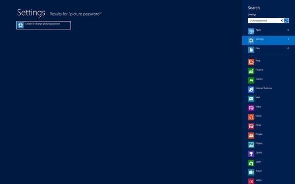 Začněte vyhledáním průvodce pro vytváření obrázkového hesla
