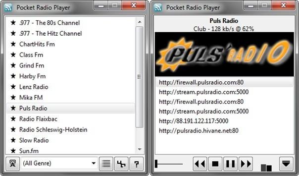 Pocket Radio Player nabízí přístup k tisícovce online rádií