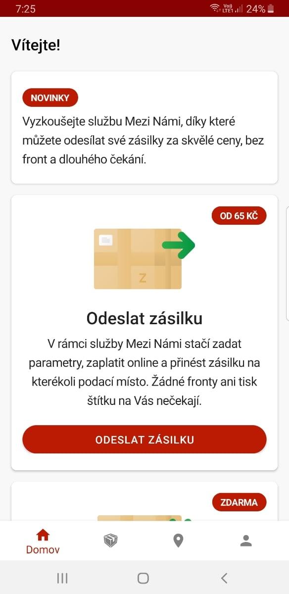 Zásilkovna.cz doručuje balíky. Vše zařídíte v mobilní aplikaci
